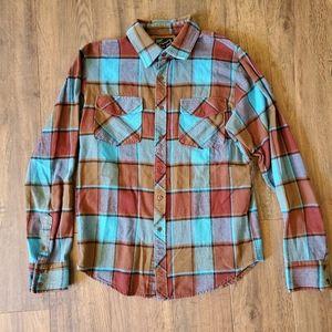 Fox Racing Blue Brown Traildust 2.0 Flannel Shirt